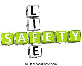 seguridad, vida, crucigrama