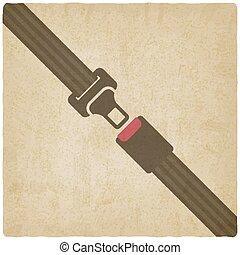 seguridad, viejo, plano de fondo, cinturón