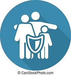 seguro, família, soluções