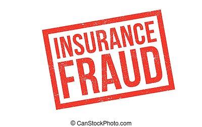 seguro, fraude, selo borracha