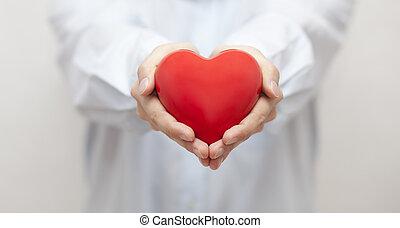 seguro médico, o, amor, concepto