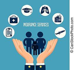 seguro, servicios, concepto