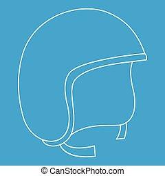 Segway helmet icon, outline style