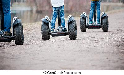 Segway - People riding segway - personal self-balancing ...