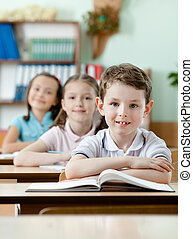 sehr, aufmerksam, klassen, pupillen
