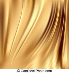 seide, hintergruende, gold