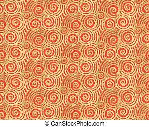 Seigaiha golden foil pattern