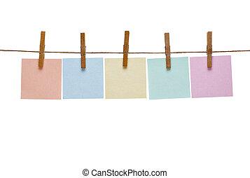 seil, briefpapier, linie, pflock, kleidung