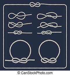 seil, marine, symbol., knots.