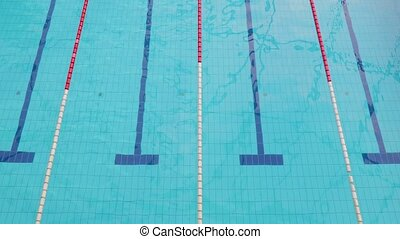 Seimming Pool Lanes - Swimming pool with empty lanes