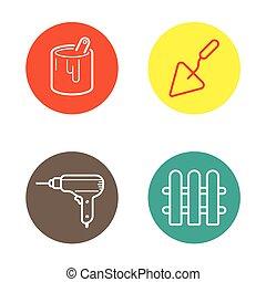 sein, gebraucht, heiligenbilder, runder , tasten, vektor, buechse, logo, kreis, oder, ikone