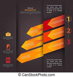 sein, gebraucht, modern, vektor, design, buechse, infographics, schablone