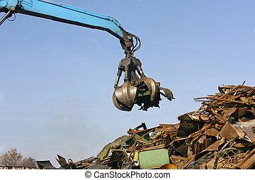 sein, metall, wiederverwertet, junkyard, verschwendung, ...