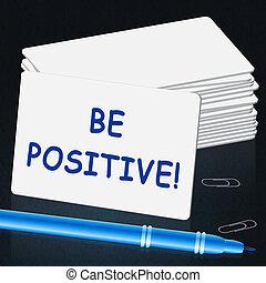 sein, positiv, ausstellung, abbildung, optimist, 3d, mindset
