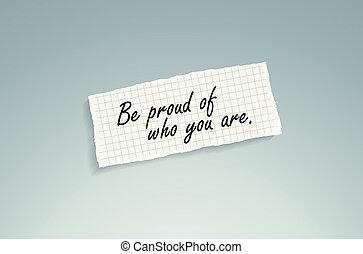 sein, sie, stolz