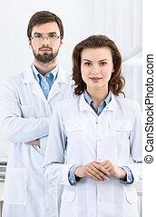 seine, hilfe, assistent, zahnarzt, immer bereit