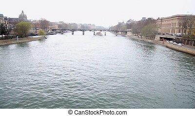 Seine river in Paris - Navigation on Seine River, Paris,...