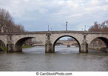 Seine River with Bridges