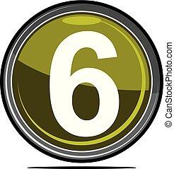 seis, logotipo, desenho, modelo, vetorial