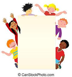 seis, multicultural, crianças