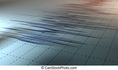 Seismograph - A close view of a seismograph arrow.