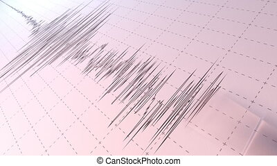 Seismograph - A close view of a seismograph