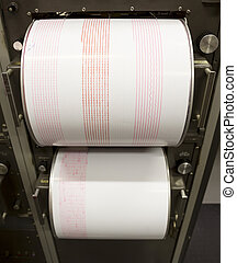 Seismograph recording earthquake Vertical - Seismograph ...