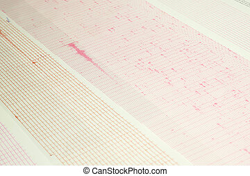 Earthquake wave on a graph paper - Seismological device for ...