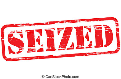Seized - Rubber stamp with word seized inside, vector ...