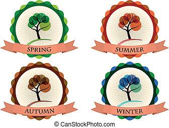 seizoen, badge