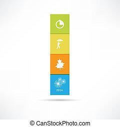 seizoen, pictogram