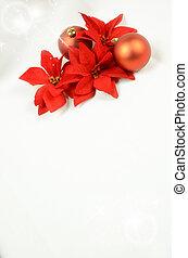 seizoenen, achtergrond, met, kerst decoraties