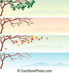 seizoenen, spandoek