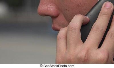 sejt, használ, ember, telefon