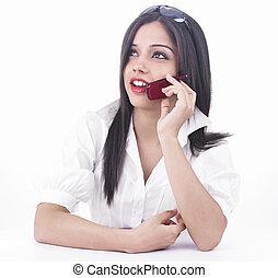 sejt telefon, leány, beszéd