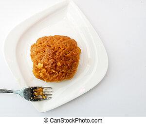Sekerpare, turkish dessert on a table