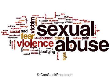 seksueel misbruik, woord, wolk