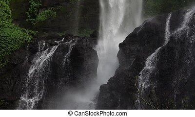 Sekumpul Waterfall in Bali, Indonesia. Slowmotion