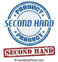 sekunde, briefmarken, hand