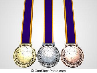 sekunde, terz, medaillen, zuerst
