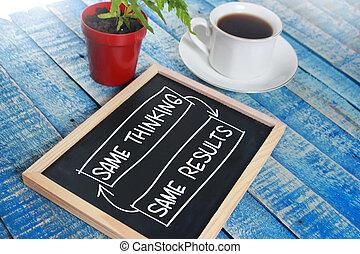 selbst, entwicklung, motivational, wörter, zitate, begriff, gleich, denken, ergebnis