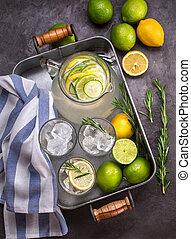 sommer getr nk limonade cocktail rosmarin sommer bilder fotografien und foto clipart. Black Bedroom Furniture Sets. Home Design Ideas