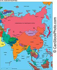selbstständig, staaten, comonwealth, namen, asia, russland
