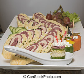 Selction of salad food at a restaurant buffet - Selection...