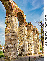 Selcuk Roman Aquaduct in Turkey - Remants of the ancient...