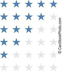 selección, estrellas, azul