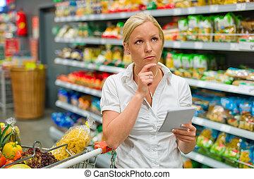 selección, supermercado