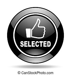 selected black glossy icon