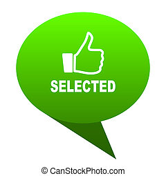 selected green bubble icon