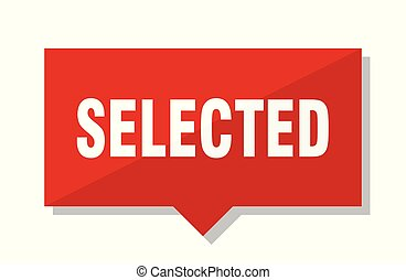 selected red tag - selected red square price tag